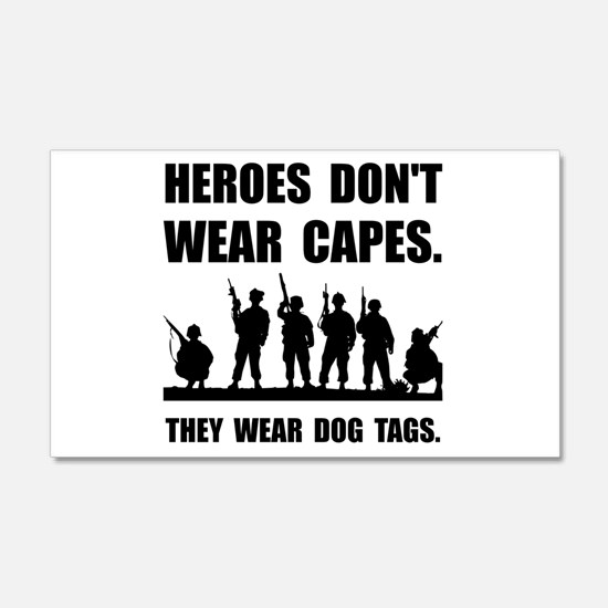 Heroes Wear Dog Tags Wall Decal
