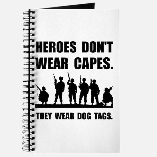 Heroes Wear Dog Tags Journal