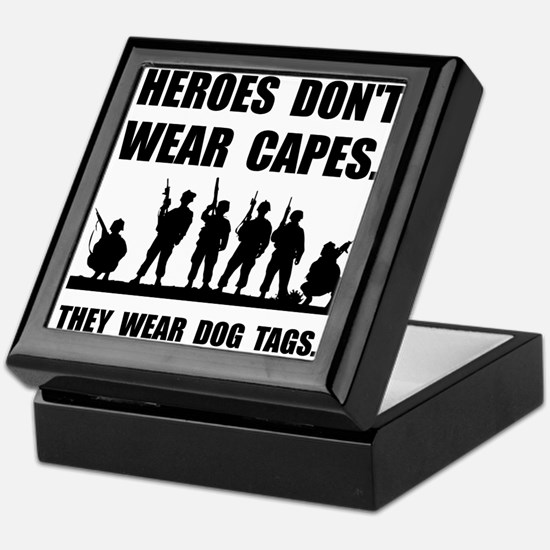 Heroes Wear Dog Tags Keepsake Box