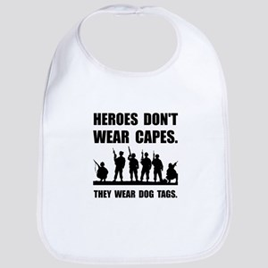 Heroes Wear Dog Tags Bib