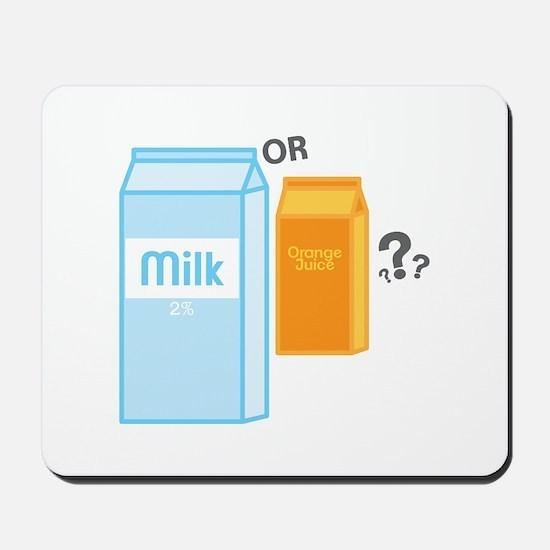 Milk and Juice Mousepad