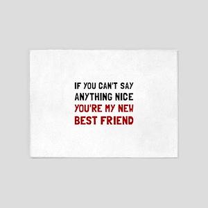 Nice Best Friend 5'x7'Area Rug