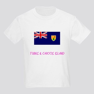 Turks & Caicos Island Flag Artistic Pi T-Shirt