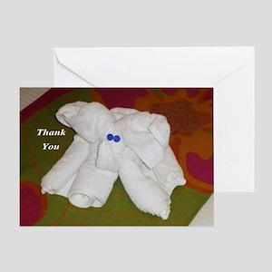 Elephant Towel Greeting Cards