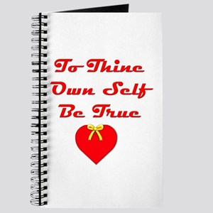 To Thine Own Self Be True Journal