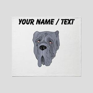 Neapolitan Mastiff (Custom) Throw Blanket