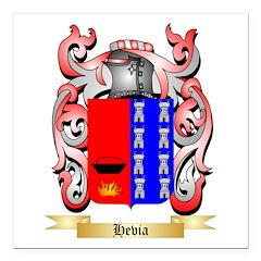 Hevia Square Car Magnet 3