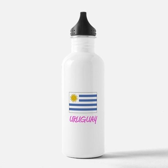 Uruguay Flag Artistic Water Bottle