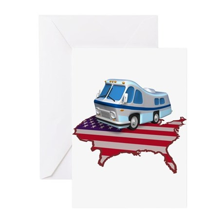 American RV Greeting Cards (Pk of 10)
