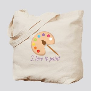 I Love To Paint Tote Bag