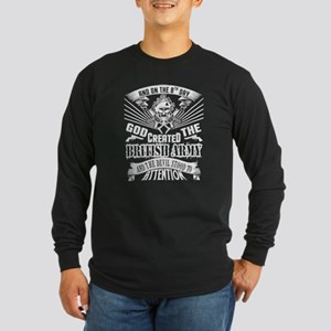 God Created The British Army T Long Sleeve T-Shirt
