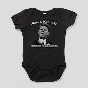 White JFK Wealth Baby Bodysuit