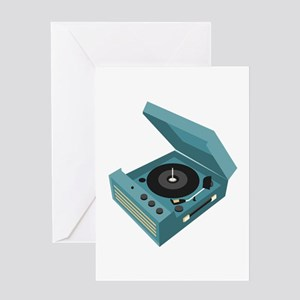 Record Player Greeting Cards