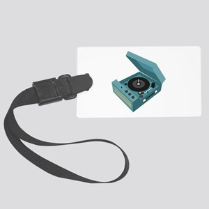 Record Player Luggage Tag