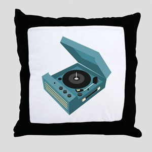 Record Player Throw Pillow
