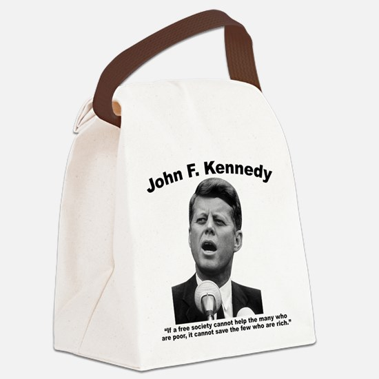 JFK Wealth Canvas Lunch Bag