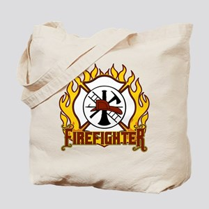 Firefighter Fire and Badge Tote Bag