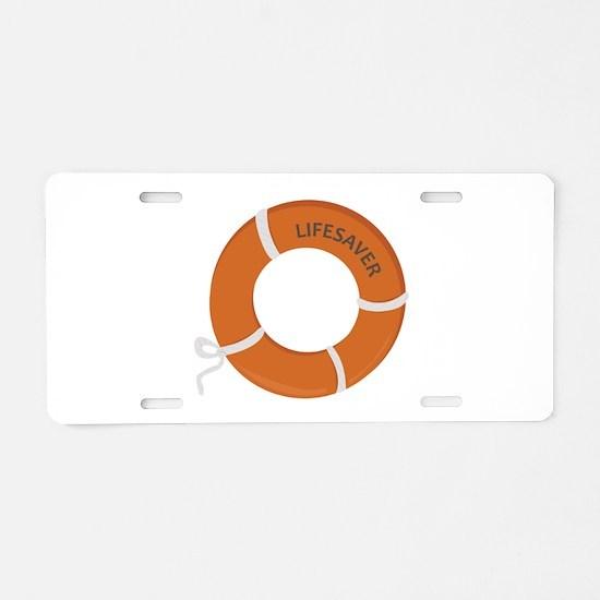 Lifesaver Aluminum License Plate