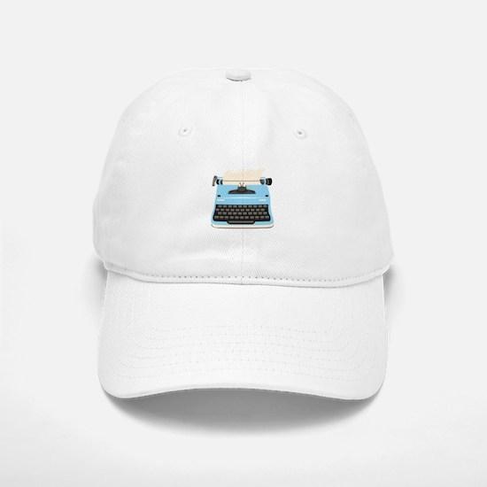 Typewriter Baseball Baseball Baseball Cap