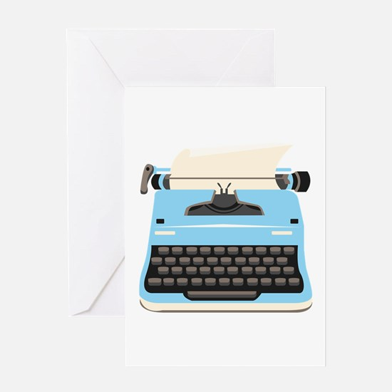 Typewriter Greeting Cards