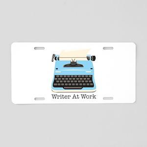 Writer At Work Aluminum License Plate