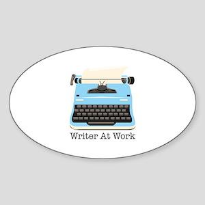 Writer At Work Sticker