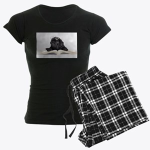 Black Pug Women's Dark Pajamas