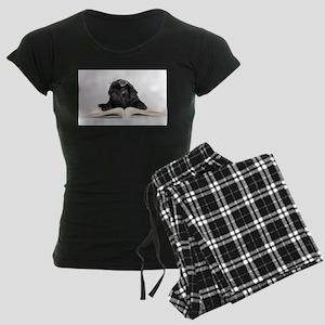 Black Pug Women's Dark Pajamas