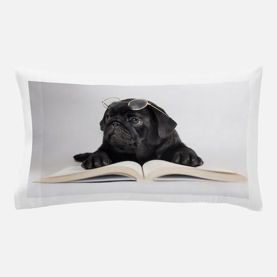 Black Pug Pillow Case