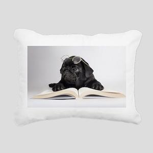 Black Pug Rectangular Canvas Pillow