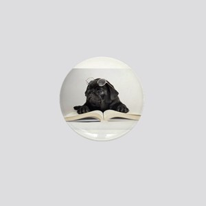 Black Pug Mini Button