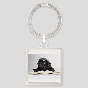 Black Pug Keychains