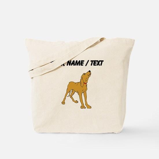 Redbone Coonhound (Custom) Tote Bag