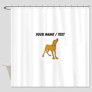 Redbone Coonhound (Custom) Shower Curtain