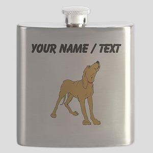 Redbone Coonhound (Custom) Flask