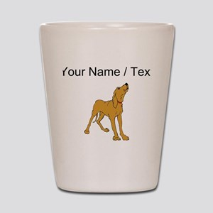 Redbone Coonhound (Custom) Shot Glass