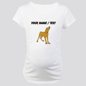 Redbone Coonhound (Custom) Maternity T-Shirt