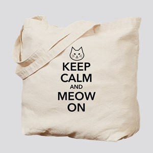 Keep Calm and Meow On Tote Bag