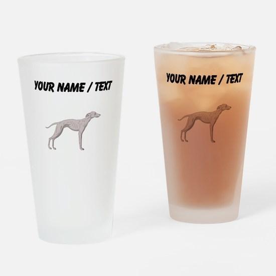 Whippet (Custom) Drinking Glass