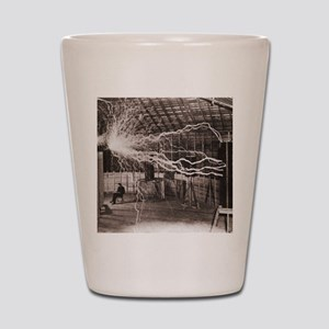 Nikola Tesla at Colorado Springs Shot Glass