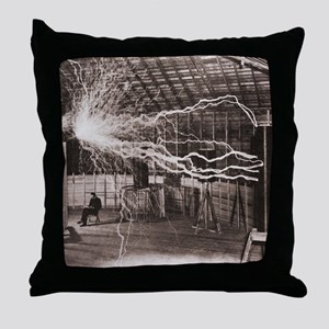 Nikola Tesla at Colorado Springs Throw Pillow