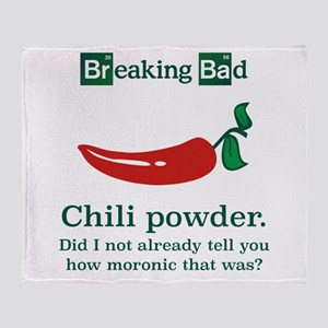 Breaking Bad Chili Powder Throw Blanket