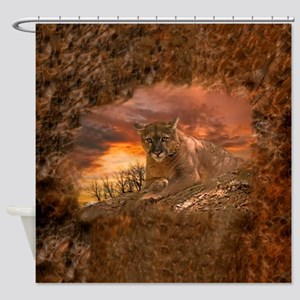 Sunset Cougar Shower Curtain