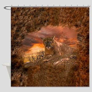 Sunset Cougar Shower Curtain