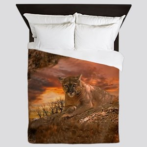 Sunset Cougar Queen Duvet