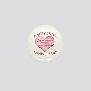 55th. Anniversary Mini Button