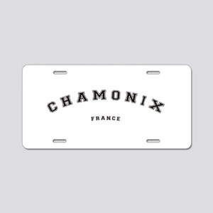Chamonix France Aluminum License Plate