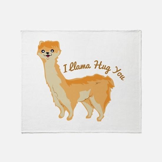 Llama Hug Throw Blanket