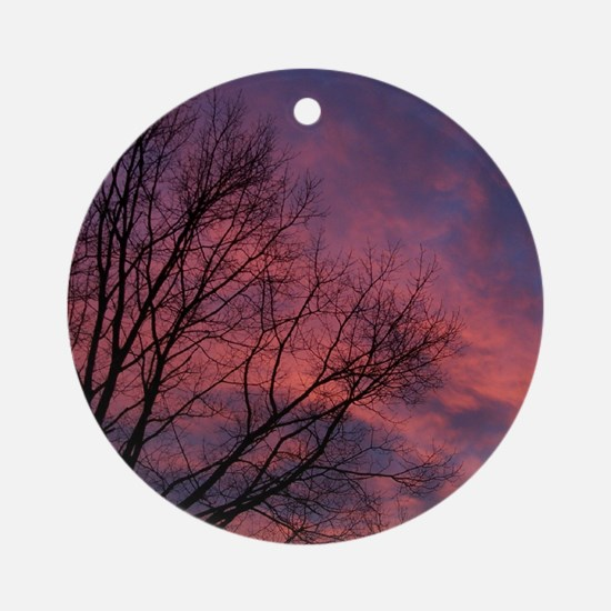 Skies on Fire Ornament (Round)
