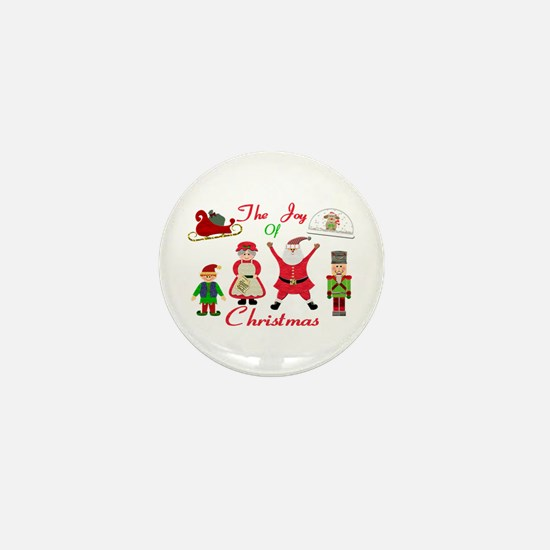 The Joy Of Christmas Collage Mini Button